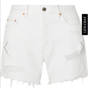 Grlfrnd brand white denim shorts